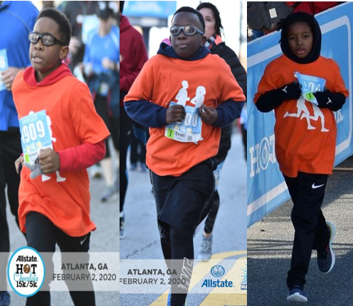 Students participating in Hot Chocolate Race in Atlanta, GA
